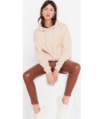 womens a big believer oversized pullover hoodie - stone