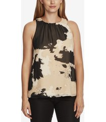 vince camuto abstract chiffon blouse