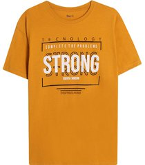 camiseta m/c con screen strong color amarillo, tallal