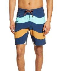 men's patagonia stretch planing swim trunks, size 40 - blue