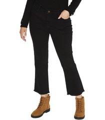 jeans pierna ancha liso negro curvi