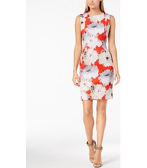 calvin klein petite floral scuba sheath dress