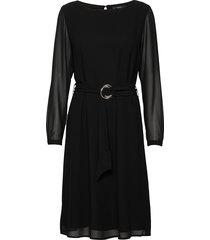 dresses light woven knälång klänning svart esprit collection