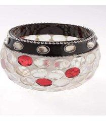 cachepot mosaico- pashmina- pedras- branco - branco - dafiti