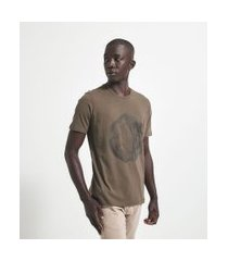 camiseta manga curta com estampa | request | verde | gg