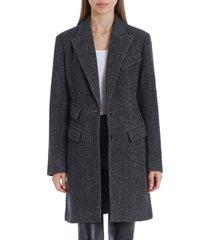 women's avec les filles twill topper coat, size x-large - grey