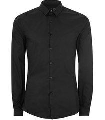 mens black stretch skinny smart shirt