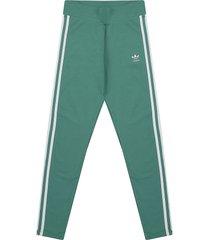 leggings verde-blanco adidas originals 3 str tight