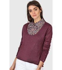 sweater violeta etam escote amplio