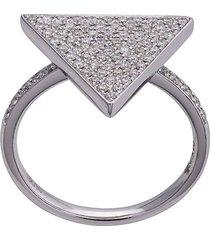 18kt triangle diamond ring