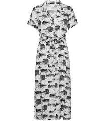 ivar print dress dresses shirt dresses vit modström