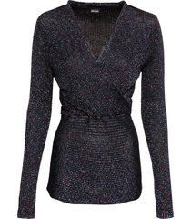 maglione a costine con lurex (nero) - bodyflirt