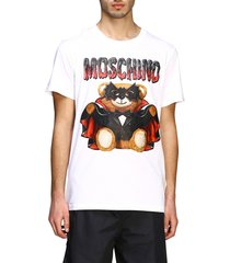 moschino couture t-shirt moschino couture short-sleeved t-shirt with bat teddy print