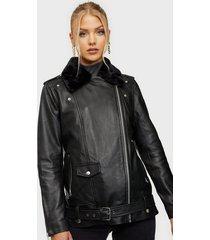 object collectors item objjazz fur l jacket 111 skinnjackor