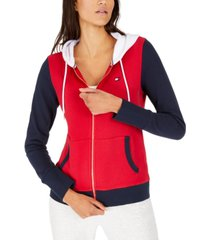 tommy hilfiger colorblocked zip-neck hoodie