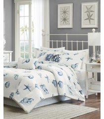 harbor house beach house 4-pc. king reversible comforter set bedding