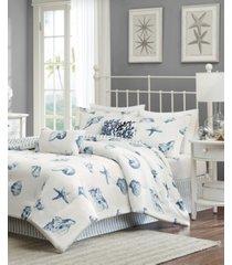 harbor house beach house 4-pc. queen reversible comforter set bedding