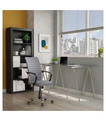 cadeira de escritório diretor giratória yukon cinza