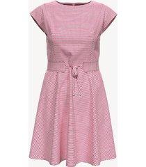 tommy hilfiger women's essential stripe t-shirt dress crimson stripe - s