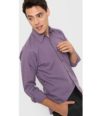 camisa violeta new astor oficinistaclásica