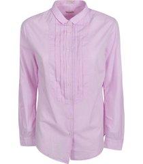 massimo alba pleated bib shirt