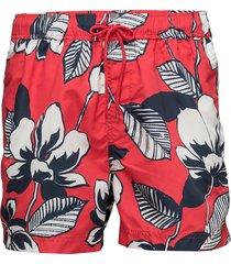 mason swim shorts aop 6956 badshorts röd samsøe samsøe
