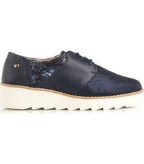 zapato de atadura azul de mujer cosmos