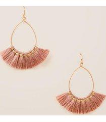 kennedy teardrop tassel earrings in mauve - mauve