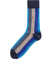 burlington socks vertical stripe socks - blue 20578