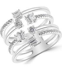 effy women's 14k white gold & diamond cage ring/size 7 - size 7