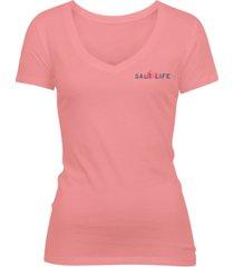 salt life women's soak up the sun cotton t-shirt