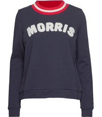 corrine sweatshirt sweat-shirt trui blauw morris lady