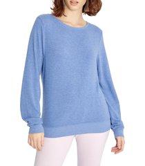 women's wildfox baggy beach jumper pullover, size x-small - blue