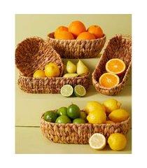 cesta de palha - cesta yamuna m cor: natural - tamanho: único
