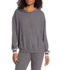 project social t finn cozy hoodie, size small in heather charcoal at nordstrom