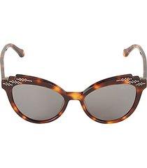 52mm ridged tortoiseshell cat eye sunglasses