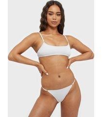south beach hi leg bikini bottom bikini white