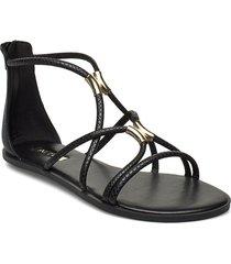 pozoa shoes summer shoes flat sandals svart aldo
