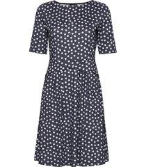 dress knitted fabric korte jurk blauw taifun