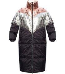 jacket with metallic finish