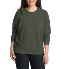 women's bun maternity relaxed daily maternity/nursing sweatshirt, size x-large - green