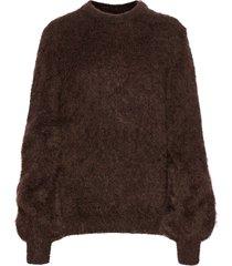 mohair knit gebreide trui bruin maud
