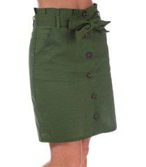 womens paper bag button through skirt