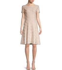 sequined a-line dress