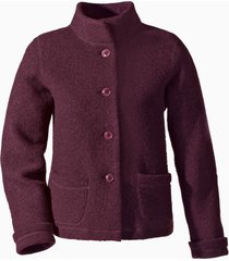 korte jas uit walkstof met bio-katoen, wild berry 40