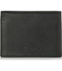 pineider designer men's bags, country black leather business card holder