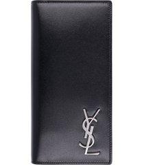 saint laurent leather continental wallet