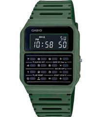 reloj digital calculadora verde casio