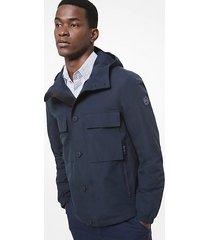 mk giacca in tessuto con cappuccio - notte (blu) - michael kors