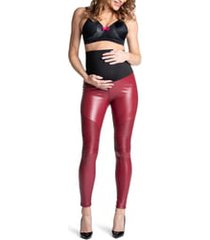 women's preggo leggings popstar mamacita moto faux leather maternity leggings